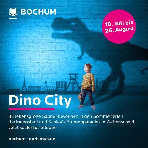 Der Flyer zur Dino City Bochum
